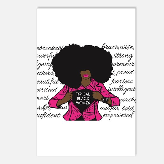 Typical Black Women Logo Postcards (package Of 8)