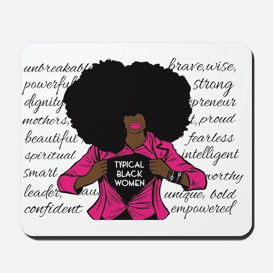 Typical Black Women Logo Mousepad