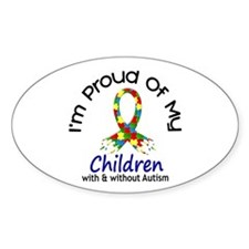 Proud Of My Autistic Children 1 Oval Decal