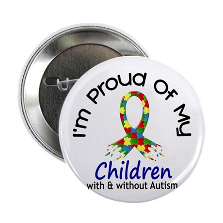 "Proud Of My Autistic Children 1 2.25"" Button (10 p"