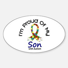 Proud Of My Autistic Son 1 Oval Decal