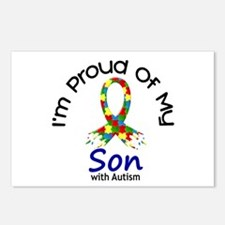 Proud Of My Autistic Son 1 Postcards (Package of 8