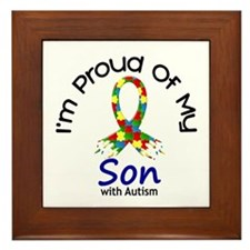 Proud Of My Autistic Son 1 Framed Tile