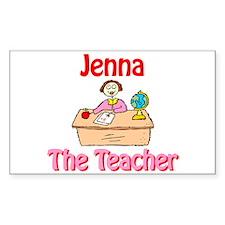 Jenna the Teacher Rectangle Decal