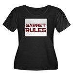 garret rules Women's Plus Size Scoop Neck Dark T-S