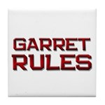 garret rules Tile Coaster