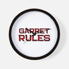garret rules Wall Clock