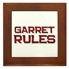 garret rules Framed Tile