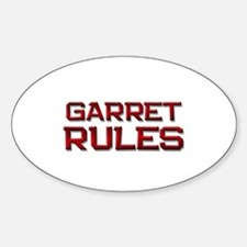 garret rules Oval Decal