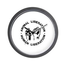 Funny Animal liberation front Wall Clock