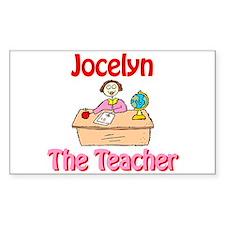 Jocelyn the Teacher Rectangle Decal