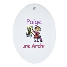 Paige - Future Architect Oval Ornament