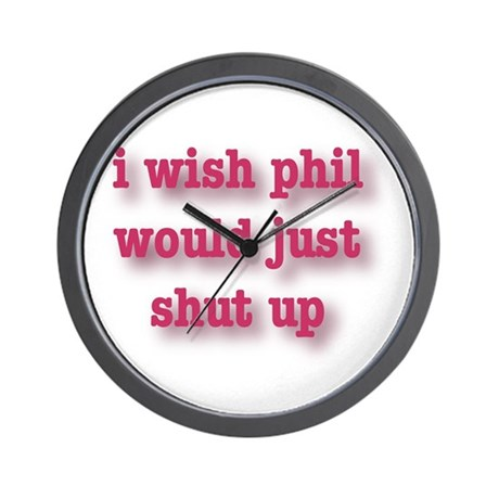 Phil Can't Sing Wall Clock