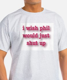 Phil Can't Sing Ash Grey T-Shirt