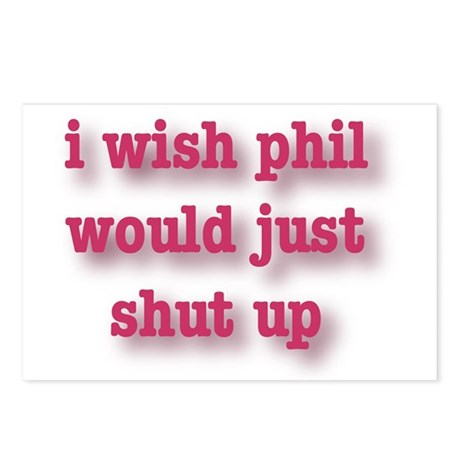 Phil Can't Sing Postcards (Package of 8)