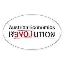 Austrian Economics Revolution Oval Decal