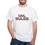 gail rules White T-Shirt
