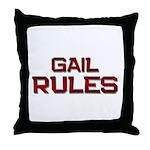 gail rules Throw Pillow