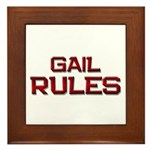 gail rules Framed Tile