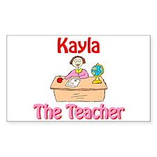 Kayla the Teacher Rectangle Decal