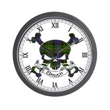 Smith Tartan Skull Wall Clock