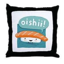 Oishii Sushi Throw Pillow