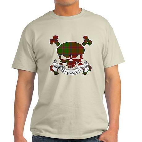 Stewart Tartan Skull Light T-Shirt