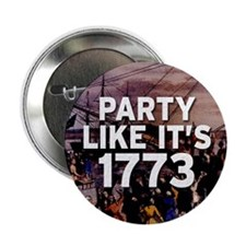 "1773 Tea Party 2.25"" Button"