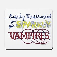 Distracted By Sparkly Vampires Mousepad