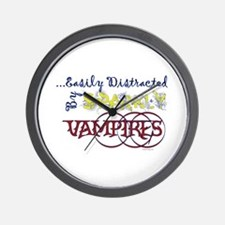 Distracted By Sparkly Vampires Wall Clock