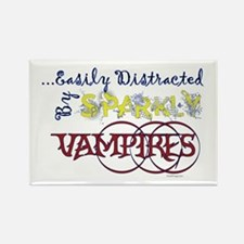 Distracted By Sparkly Vampires Refrigerator Magnet