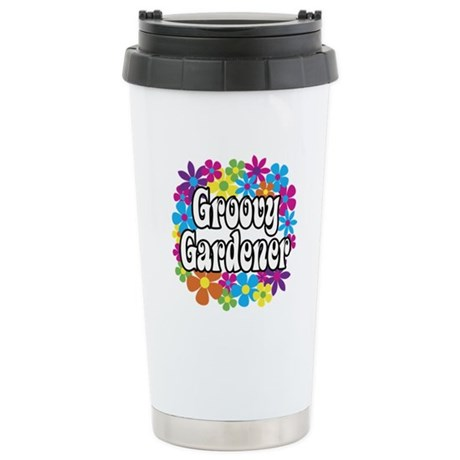 Groovy Gardener Stainless Steel Travel Mug