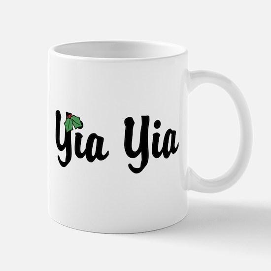 Yia Yia Holiday Holly Mug