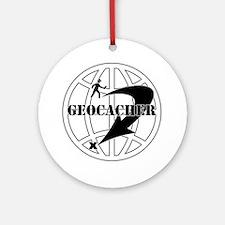 Global Geocaching Ornament (Round)