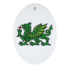 Midrealm Dragon Oval Ornament