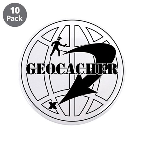 """Global Geocaching 3.5"""" Button (10 pack)"""
