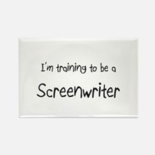 I'm training to be a Screenwriter Rectangle Magnet