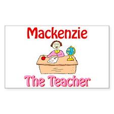 Mackenzie the Teacher Rectangle Decal