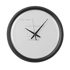 Funny Statistics Large Wall Clock