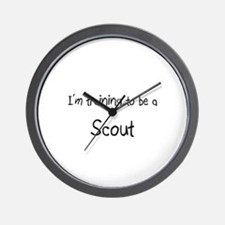 I'm training to be a Scout Wall Clock