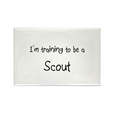 I'm training to be a Scout Rectangle Magnet