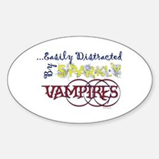 Distracted By Sparkly Vampires Bumper Decal