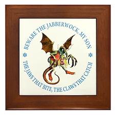 BEWARE THE JABBERWOCK Framed Tile