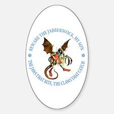 BEWARE THE JABBERWOCK Oval Decal