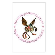 BEWARE THE JABBERWOCK Postcards (Package of 8)