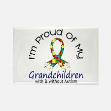 Proud Of My Autistic Grandchildren 1 Rectangle Mag