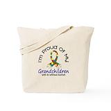 Autism grandchildren Canvas Bags