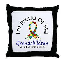 Proud Of My Autistic Grandchildren 1 Throw Pillow