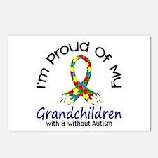 Proud Of My Autistic Grandchildren 1 Postcards (Pa