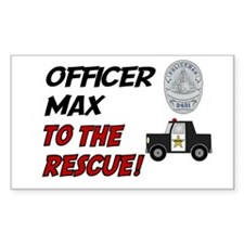 Max - Police Rescue Rectangle Decal